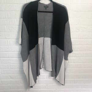 The Limited Color Block Poncho